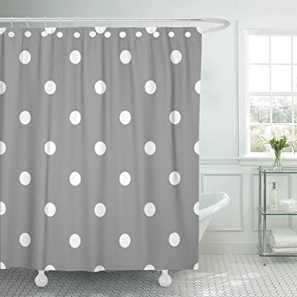 Amazon Emvency Shower Curtain Abstract Polka Dot Pattern Retro