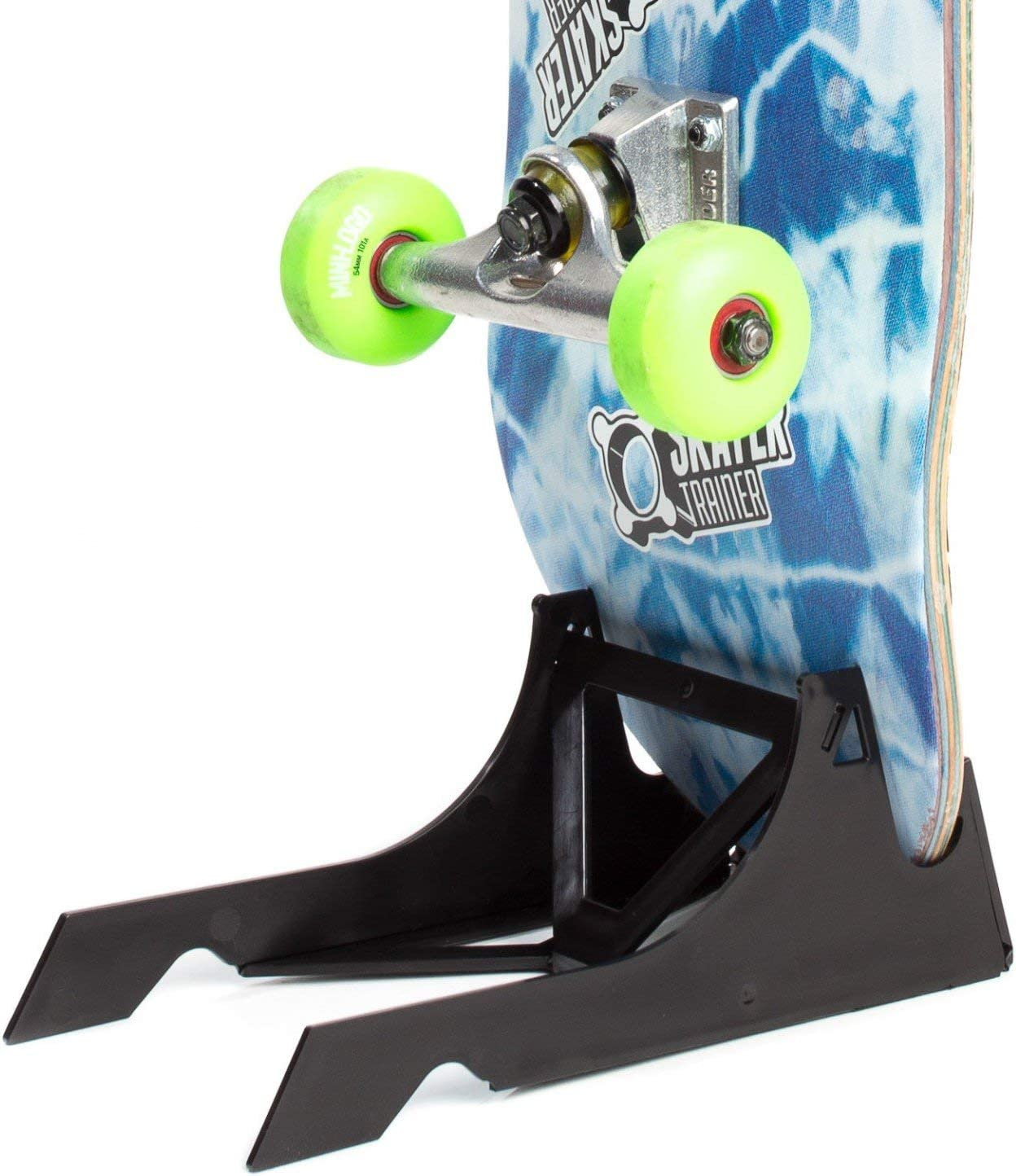 SKATERTRAINER A Place for Your Skateboard, Store or Display in Style with an Original Skateboard Stand   The Origami Skate Rack by Skater Trainers