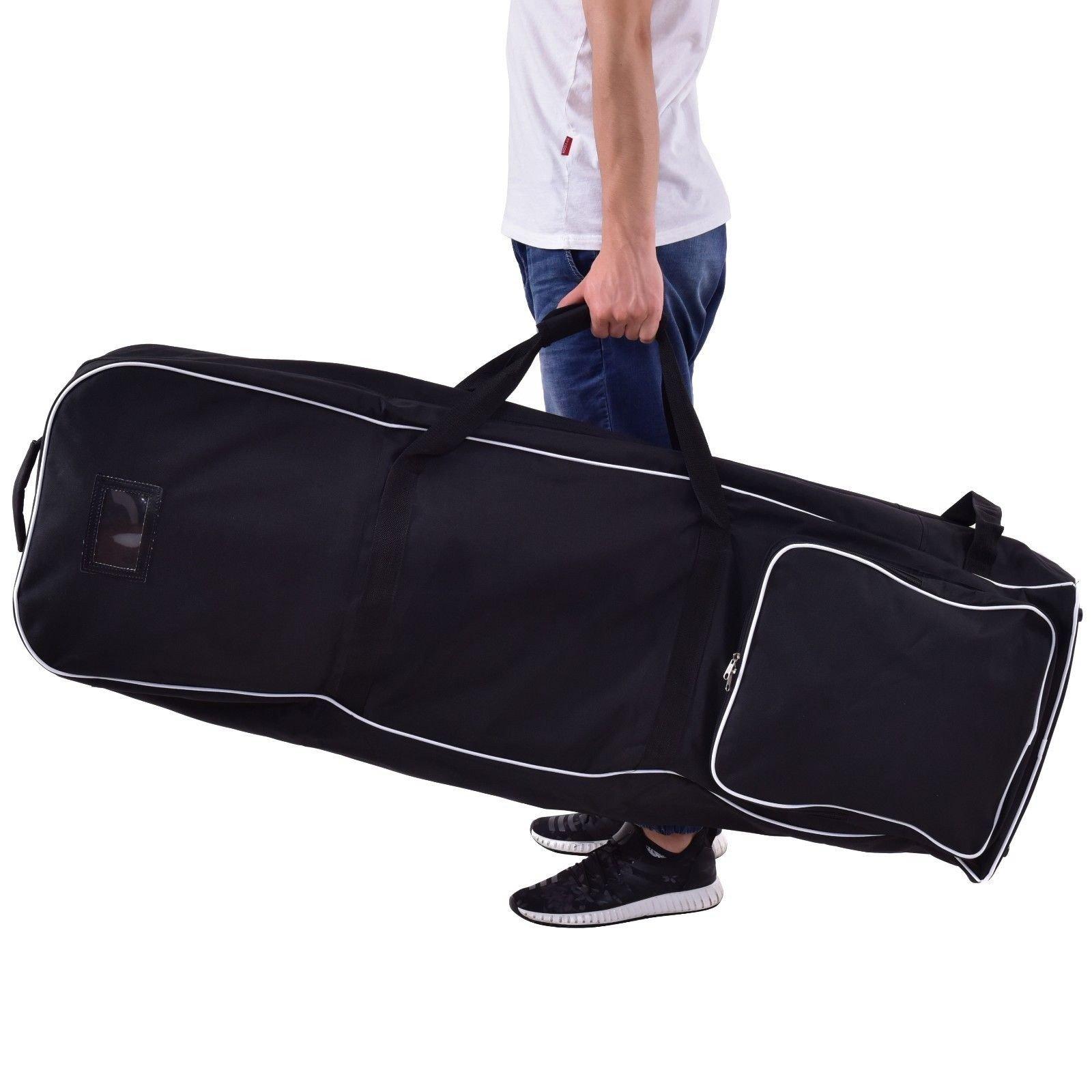 Custpromo Foldable Golf Bag Travel Cover with Wheel, Black