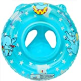 Infant Baby Kids Toddler Inflatable Swimming Swim Ring Float Seat Boat Pool Bath Handle Safety Seat Swim (Blue)