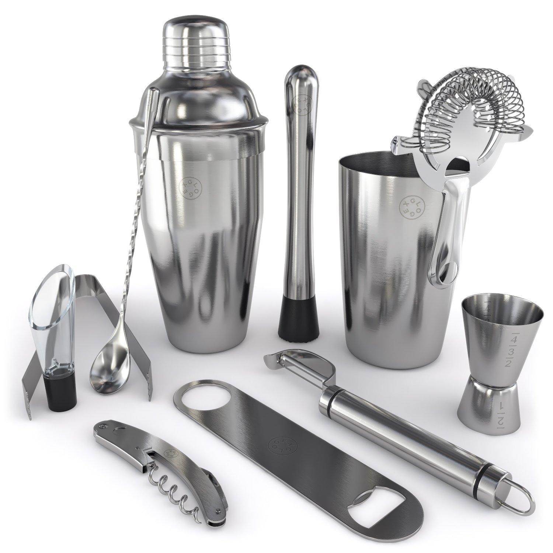 amazoncom home bar tools set  piece  stainlesssteel  - amazoncom home bar tools set  piece  stainlesssteel kitchen dining