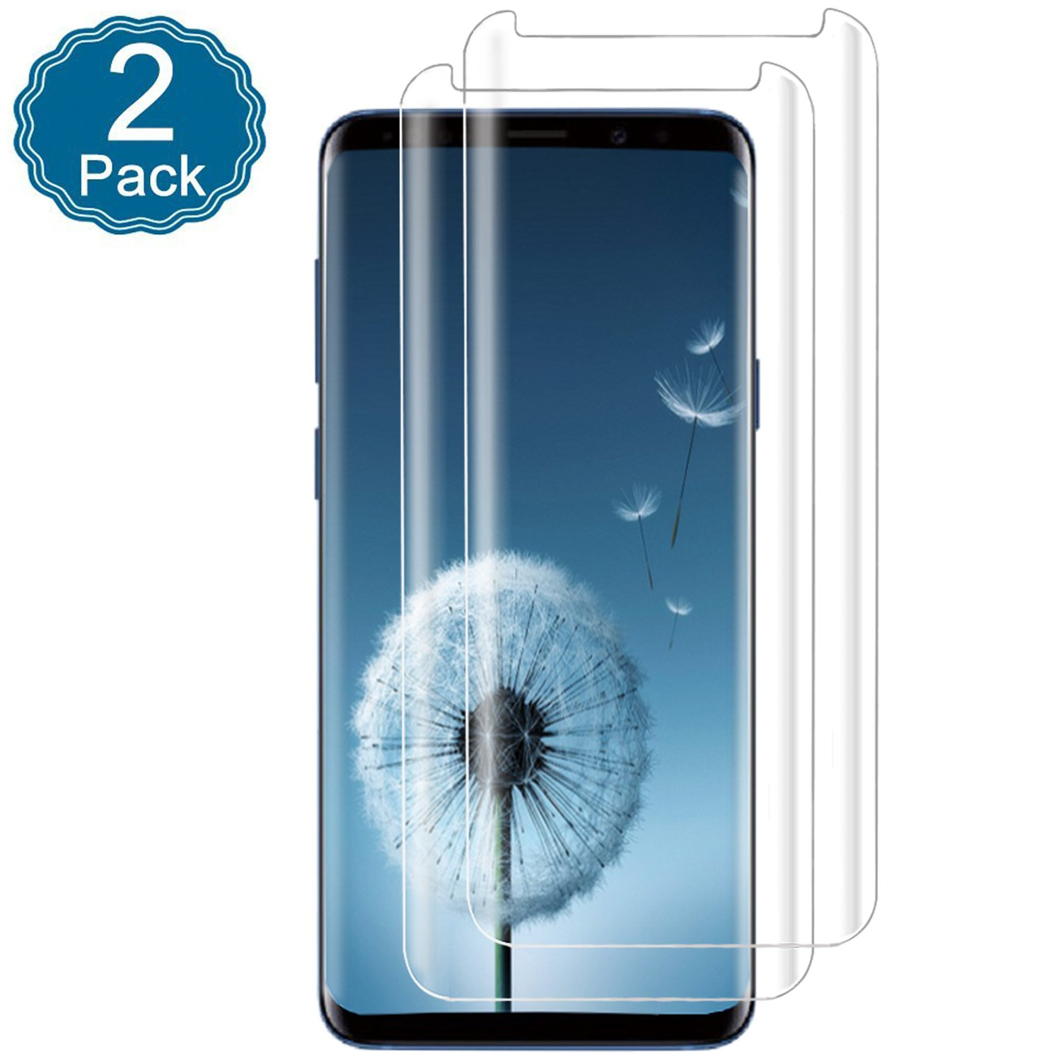 Galaxy S9 Screen Protector, 3D Full Screen Coverage Glass [Easy to Install][9H Hardness][HD-Clear][Case Friendly][Anti-Fingerprint] Tempered Glass Screen Protector for Samsung Galaxy S9 [2 Pack]