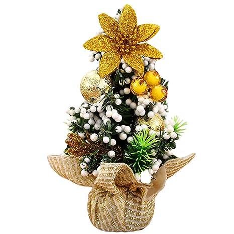 Decorazioni Natalizie Per Ufficio.Gosear Mini Natale Albero Tavolo Decorazione Natale