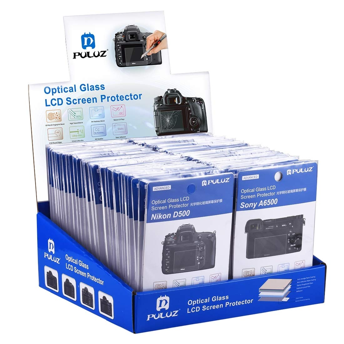 Guangheyuan 60 PCS PULUZ 2.5D Curved Edge 9H Surface Hardness Tempered Glass Screen Protector Kits for Canon 5D Mark IV/Mark III,