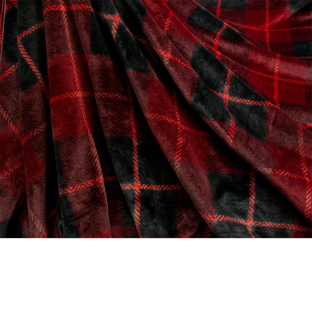 Pavilia Premium Sherpa Twin Size Blanket Plaid Design