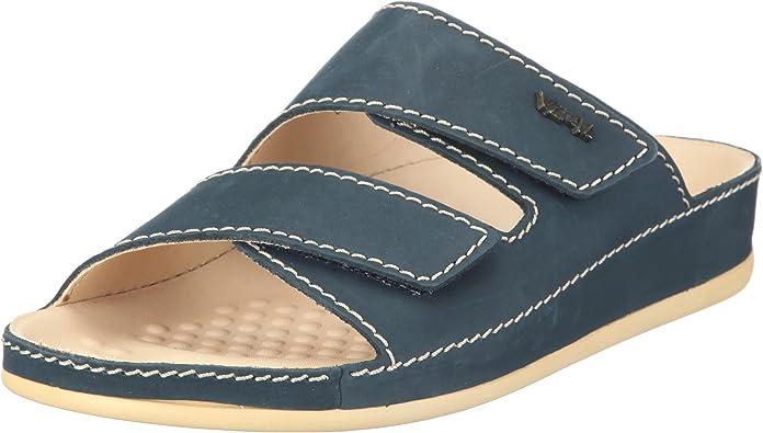 Schuhe Klettverschluß Doc Comfort Beige Leder Damen sportlich