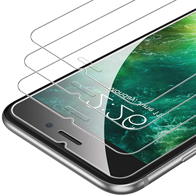 Unbrea Kcable I Phone 6 Plus/6s Plus Screen Protector [3 Pack], 2.5 D Edge Tempered Glass, Anti Scratches,Case Friendly, [Free Installation Frame] by Unbrea Kcable