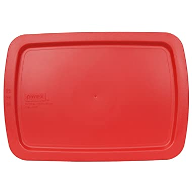 Pyrex Red Plastic Lid for 9  X 13  3-qt C-233-PC for Oblong Easy Grab Glass Baking Dish