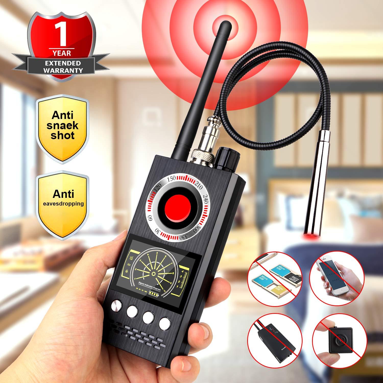 Eilimy Anti-Spy Wireless RF Signal Detector [Latest Professional Version] Bug GPS Camera Signal Detector,Detection GPS Tracker Hidden Camera Eavesdropping Device Signal Detector
