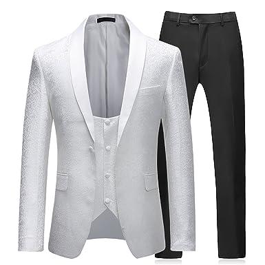 Sliktaa - Traje - para Hombre Blanco Blanco XL: Amazon.es ...