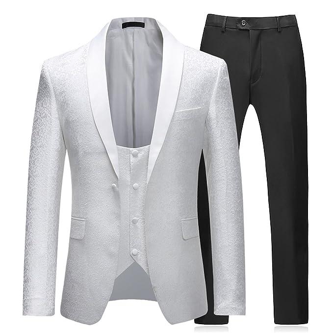Sliktaa - Traje - para Hombre Blanco Blanco 2XL: Amazon.es ...