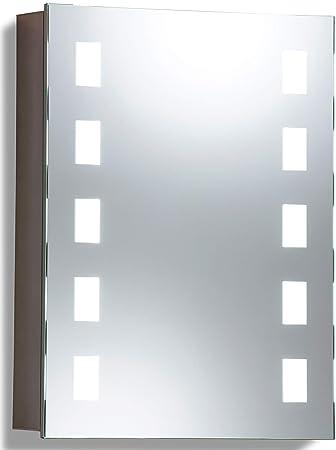 LED beleuchteter Badezimmer Spiegelschrank (Tageslichtweiß bei 6500K ...