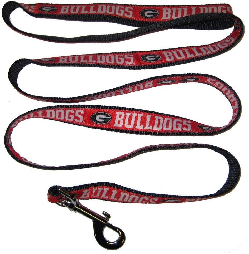 Pets First Collegiate Pet Accessories, Dog Leash, Georgia Bulldogs, Small