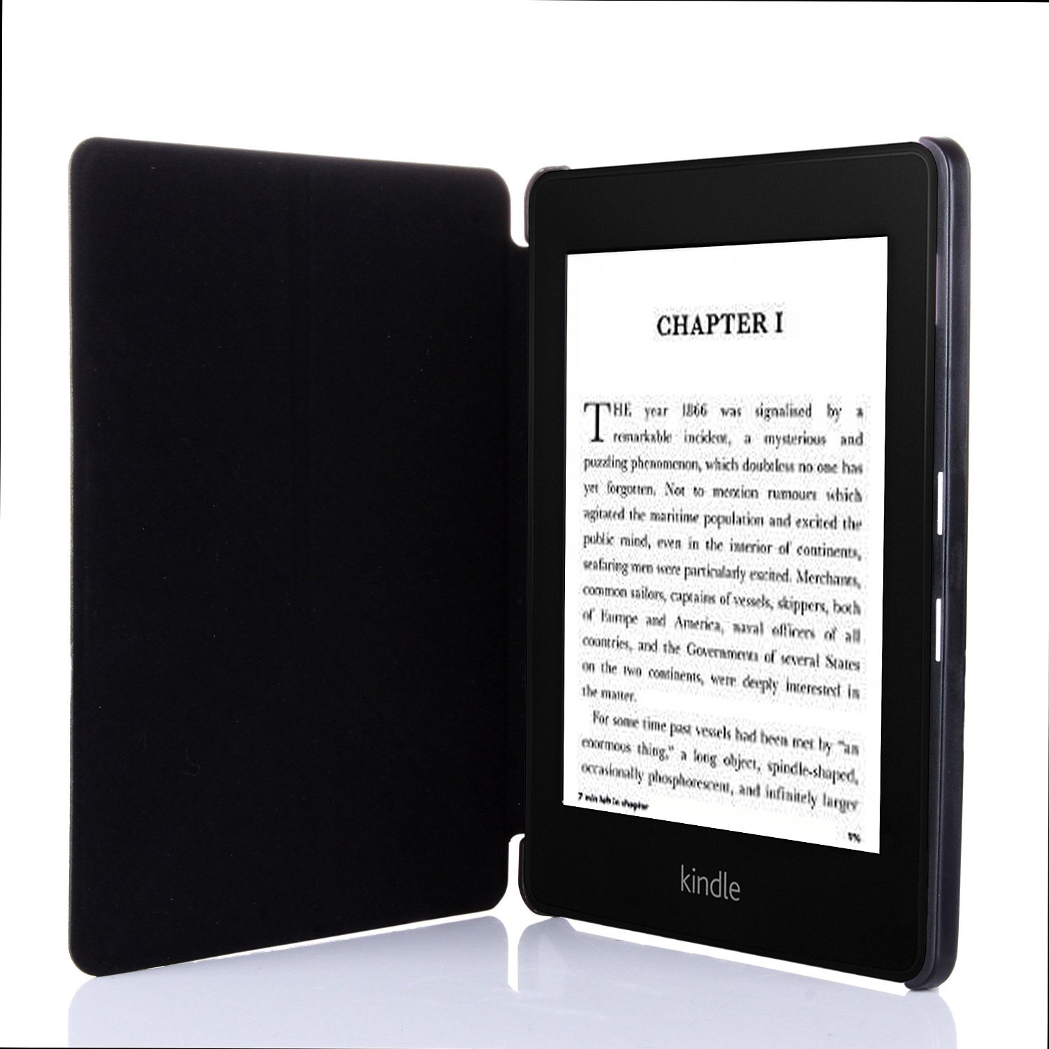 kindle voyage case cover leather origami stand