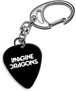 Imagine Dragons Band Logo Llavero de púa de guitarra (H)