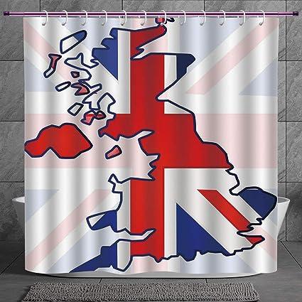 Durable Shower Curtain 2 0 [ Union Jack,Faded United Kingdom