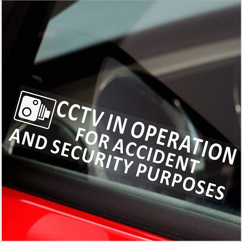 Bus scritta Window-CCTV In Operation for Accident and Security Purposes taxi Dash Cam Mini taxi-GO Pro taxi Mini per camion 2 adesivi 200 x 43 mm per finestrino