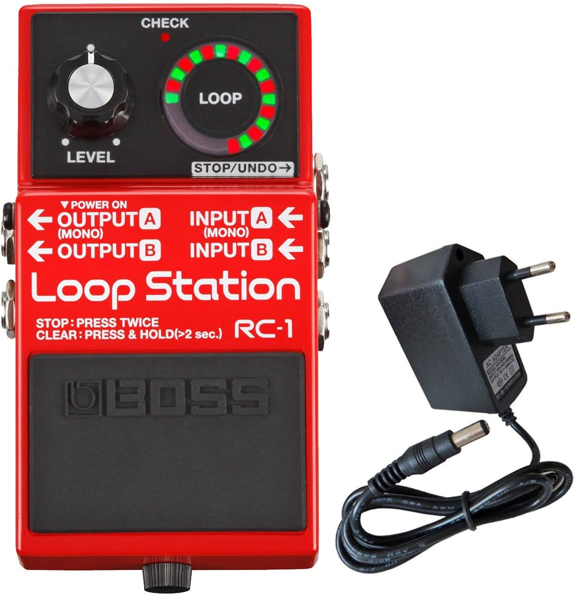 Boss RC de 1 Loop Station Looper Pedal de Keepdrum Fuente 9 V