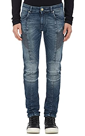 e0551f847d3 Pierre Balmain Slim Fit Honeycomb Biker Jeans, Blue Denim ($855) at ...
