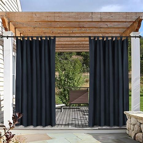 cololeaf - Cortina de Ventana de Panel único para Patio, Porche, cenador, Pérgola o Cabana, Color Beige, 132 x 213 cm (1 Panel)