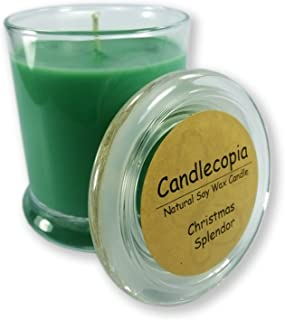 product image for Candlecopia Christmas Splendor Strongly Scented Hand Poured Vegan Candle, Status Jar, Glass Lid