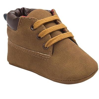 Jamicy , {Chaussures premiers pas pour bébé (garçon) marron Brown 1 12~18 mois