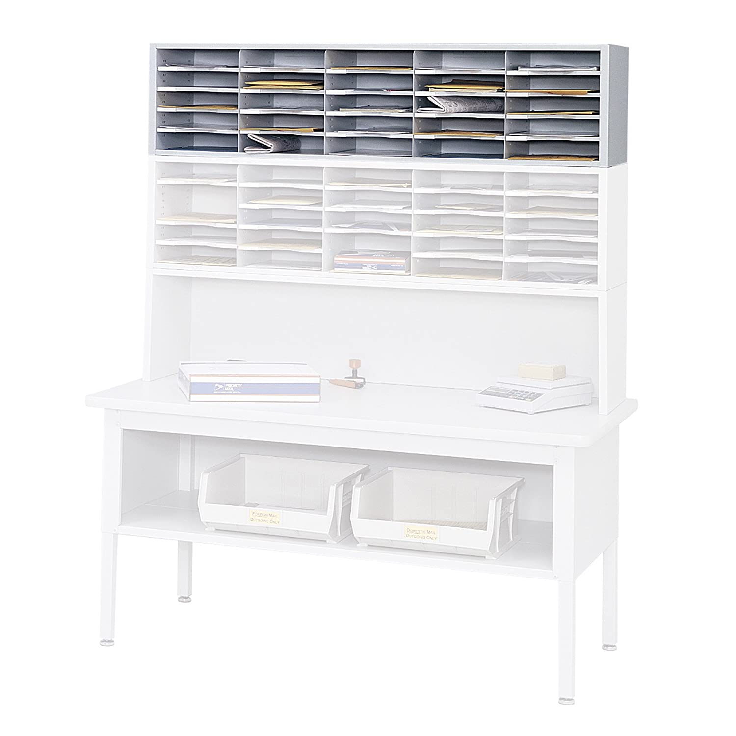 Amazon.com: Safco Products 7751GR E-Z Sort Mail Station Sorter Module,  Gray: Kitchen & Dining