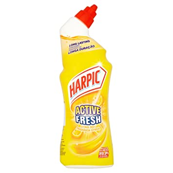 Harpic Active Fresh Toilet Cleaning Gel 750ml Citrus Zest Pack Of