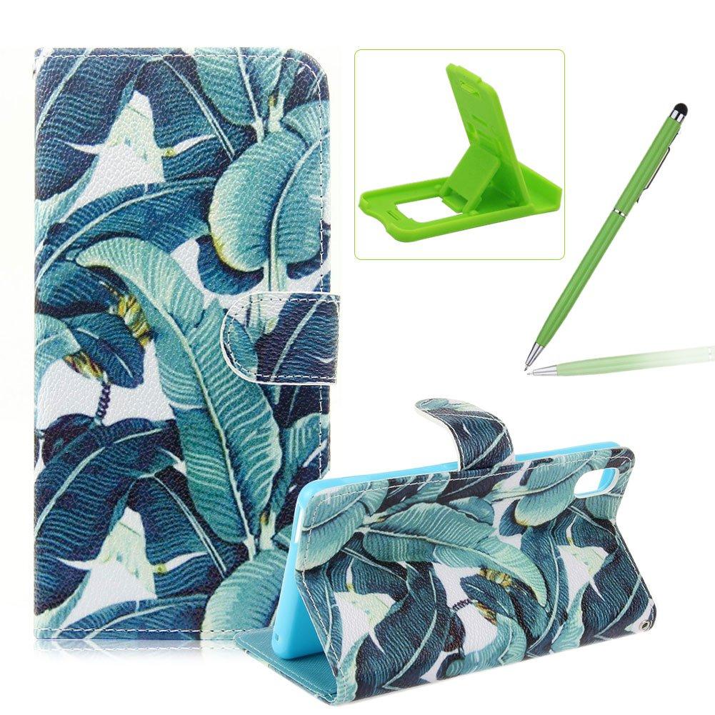 Sony Xperia M4/M4 Aqua PU Cuero Billetera Funda Flip Carcasa,pintura de la cáscara colorido diseño de la carpeta con TPU suave interior para Sony ...