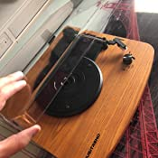 Mustriend Tocadiscos de Madera 33/45/78 Velocidad con Reproductor ...