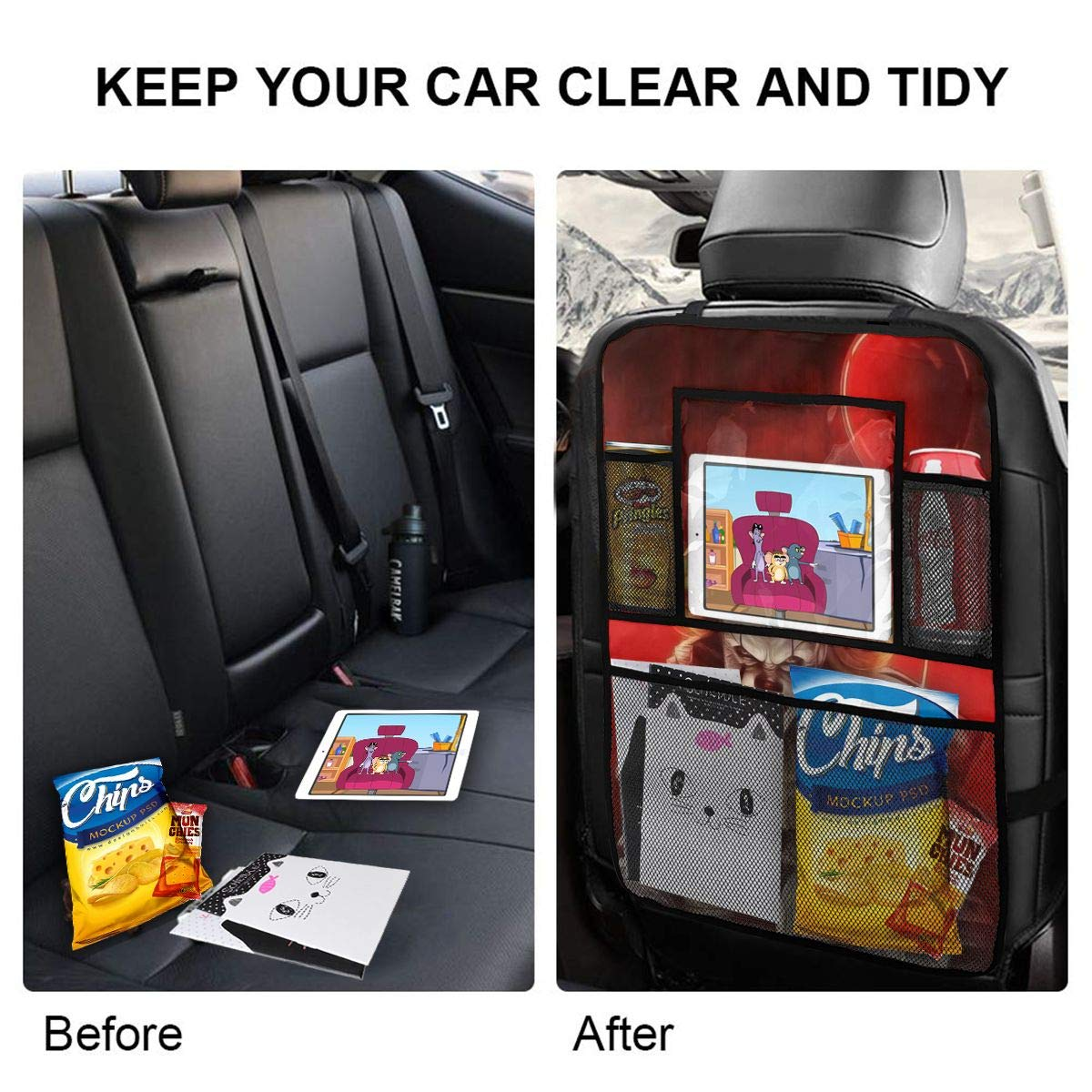 Pennywise with Balloon Car Seat Back Organizer As Travel Storage Accessories/£/¨2 Pack/£