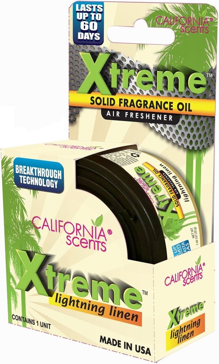 Amazon.es: 8 x California Scents Xtreme – Juego de ambientador para coche (varios colores, de hielo ártico vocanic Cherry, pomberry Crush, Typhoon Blossom exóticos, coco, Lightening lino, Twister Berry, Hurricane Breeze