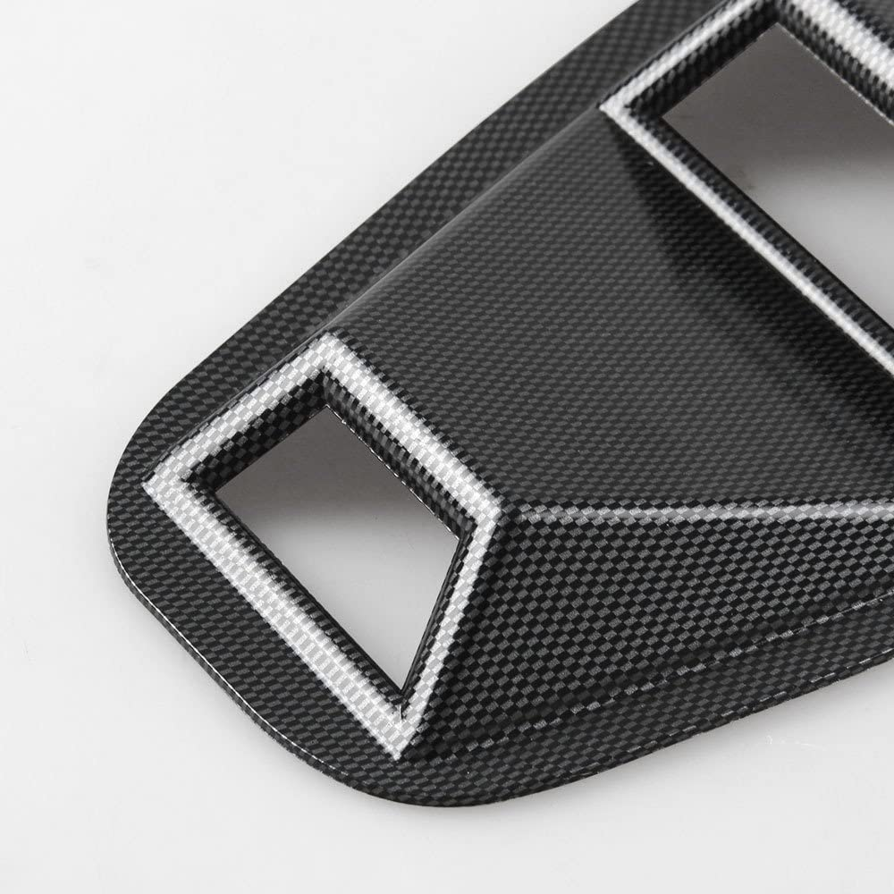 BEESCLOVER 2005-2014 Ford Mustang 1//4 Quarter Side Window Louvers Scoop Cover Vent Carbon Pattern