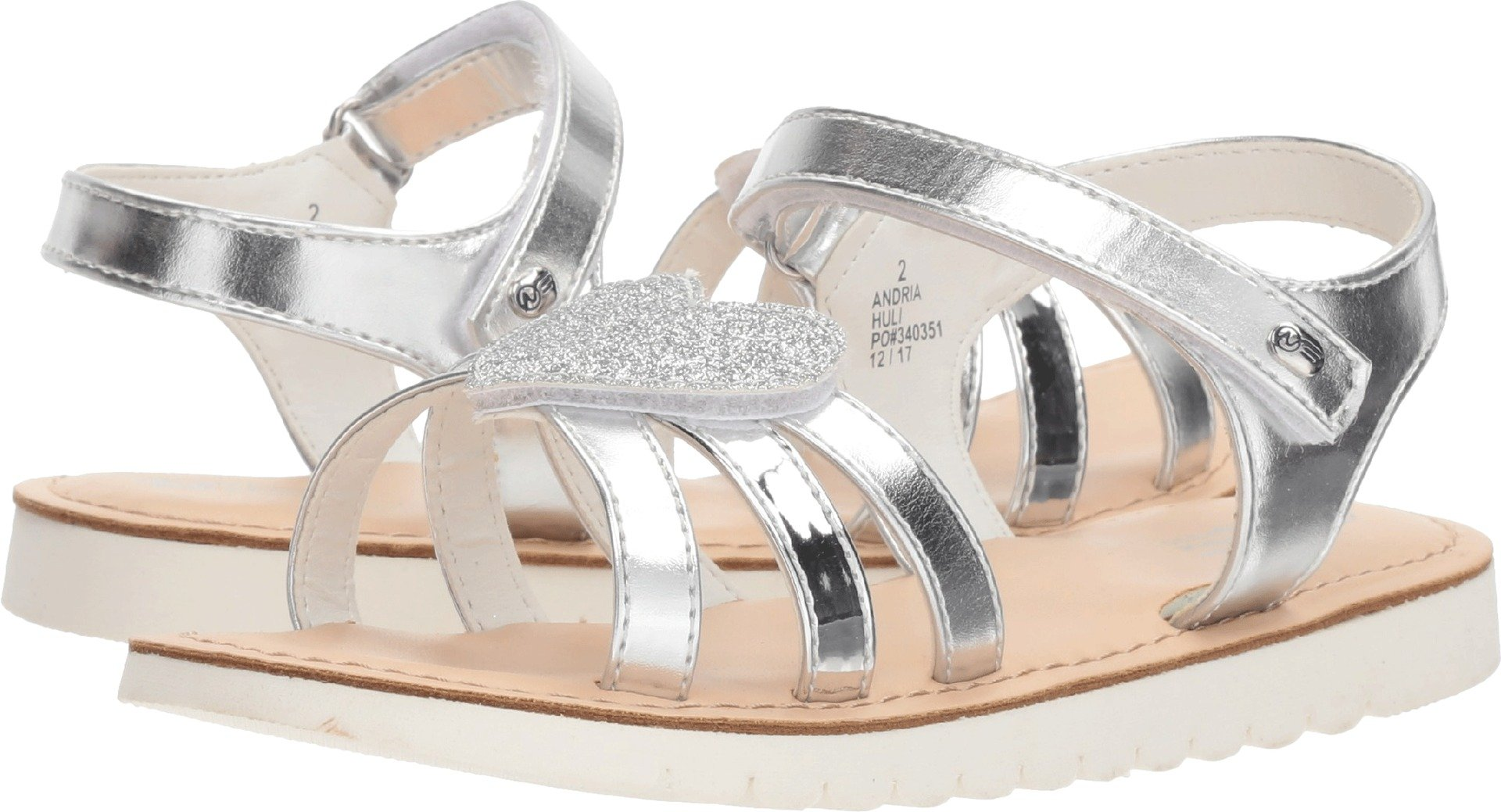 Naturino Express Baby Girl's Andria (Toddler/Little Kid) Silver 9 M US Toddler