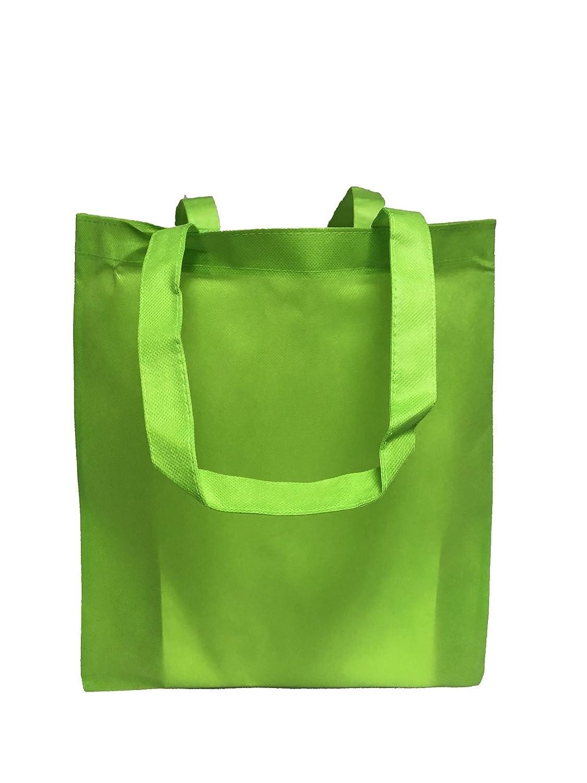 再利用可能な会議/カンファレンス用トートバッグ 不織布 明るい色 販促 景品向け Set of 24 グリーン B01NAGV1DH Set of 24|ライムグリーン ライムグリーン Set of 24