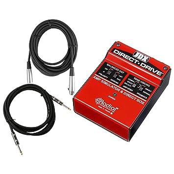 Radial JDX Direct Drive guitarra simulador de amplificador di W/2 cables: Amazon.es: Instrumentos musicales