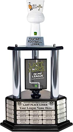 26 Tall with Free Engraving for up to 19 Years of Past Winners! Matthew Berrys Toilet Fantasy Football Loser Trophy
