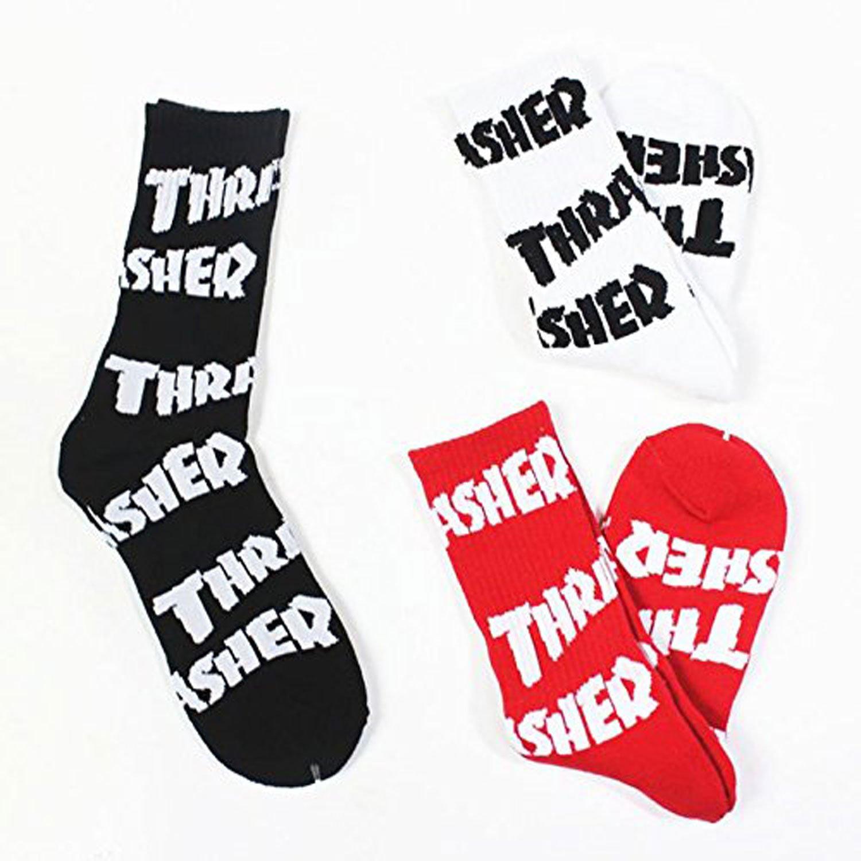 Thrasher carta impreso largo calcetines - -: Amazon.es: Ropa y accesorios