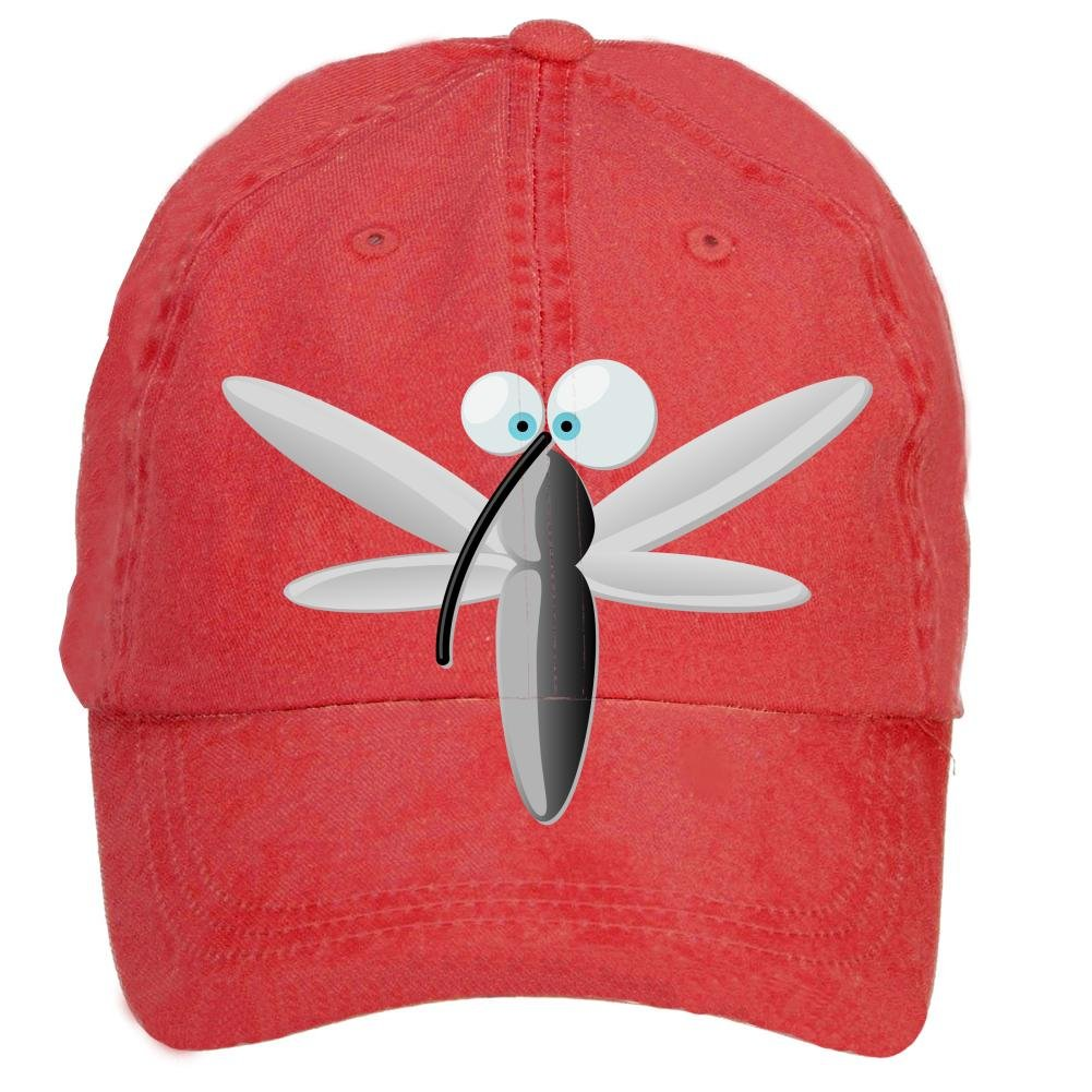 Cartoon mosquito de béisbol gorra gorro gorra, color azul: Amazon ...