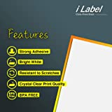 "iLable 8.5"" x 11"" Full Sheet Sticker Paper for"