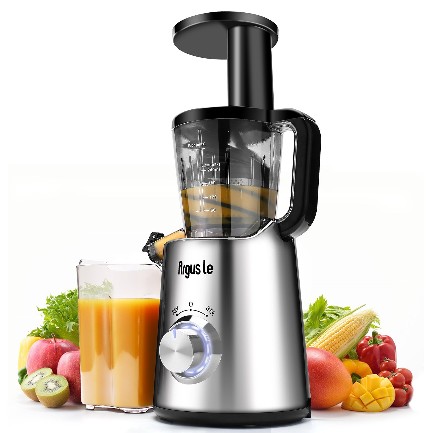 Argus Le Masticating Juicer丨Slow Juice Extractor for Higher Nutrient and Vitamins丨Easy to Clean Cold Press Juicer for All Fruits and Veggies