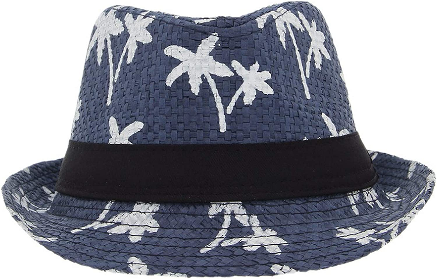 Mageed Anna Summer Straw Hats for Adult Child Hat Coconut Tree Jazz Caps Casual Beach Visor Hat Parent-Child Cap