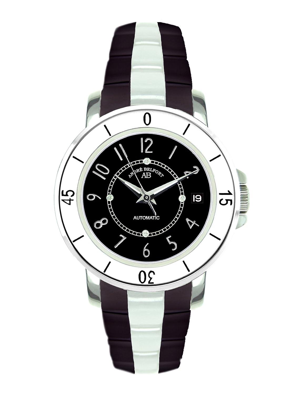 AndrÉ Belfort Damen-Armbanduhr Aphrodite Stahl Schwarz 410074