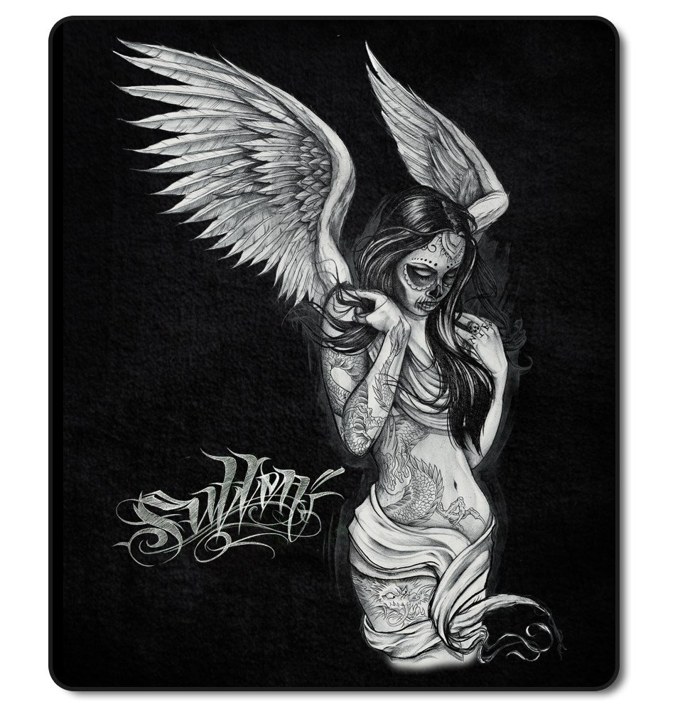 Sullen Art Collective Fallen Angel Plush Blanket Soft Queen Size