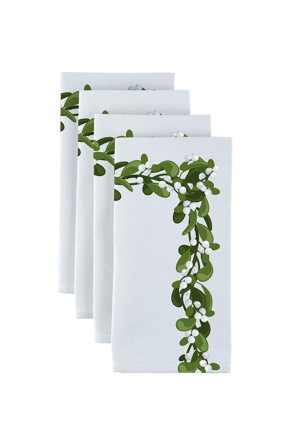 生地テキスタイル製品Mistletoe Borderナプキン18