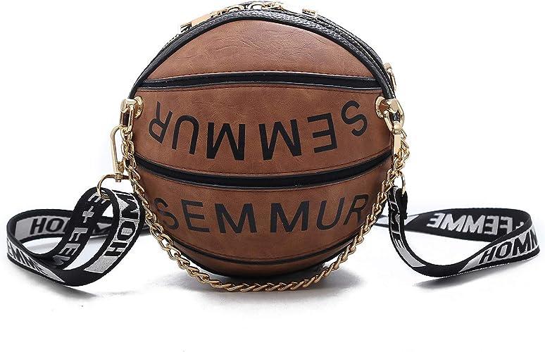 personality handmade fashion round basketbal purse handBag shoulder bag