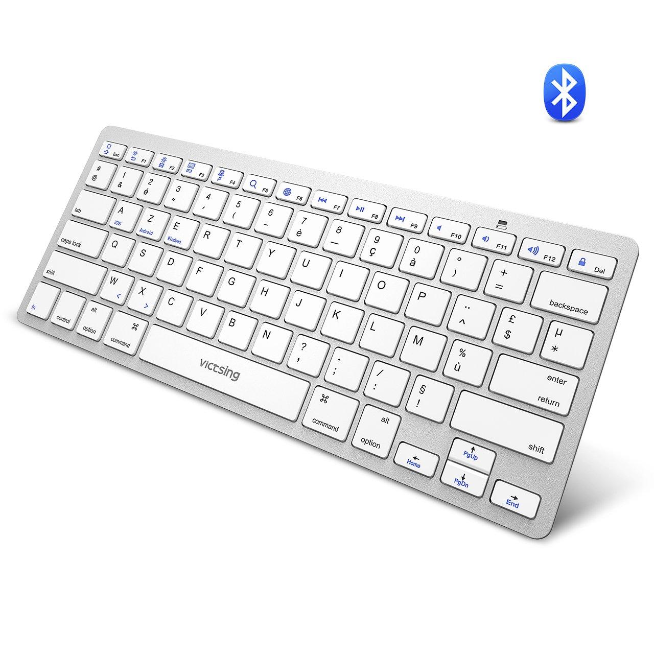 VicTsing Ultra-Slim Portable Bluetooth Keyboard, Wireless Keyboard for iOS  (iPhone, iPad), Android, Windows, Mac Computer, Laptop, Tablet, Smartphone