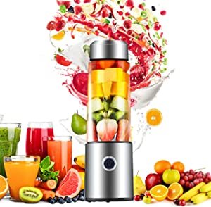 Portable Blenders, Carry Blenders Smoothie Mixers Smoothie Blenders Fruit Blenders Rechargeable Cordless Speedy for Travel, Home, Gym and Office BPA Free 14 OZ 65 Watts