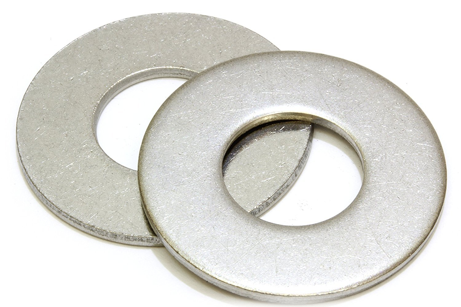 1/2'' Stainless Flat Washer, 1-1/4'' Outside Diameter (100 Pack)- Choose Size, by Bolt Dropper, 18-8 (304) Stainless Steel