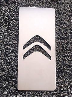 Citroen - Plataforma reposapies para tuning en acero inoxidable, 18 x 8 cm, con